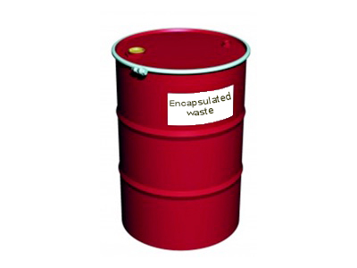 TC14 drum with waste encapsulated inside